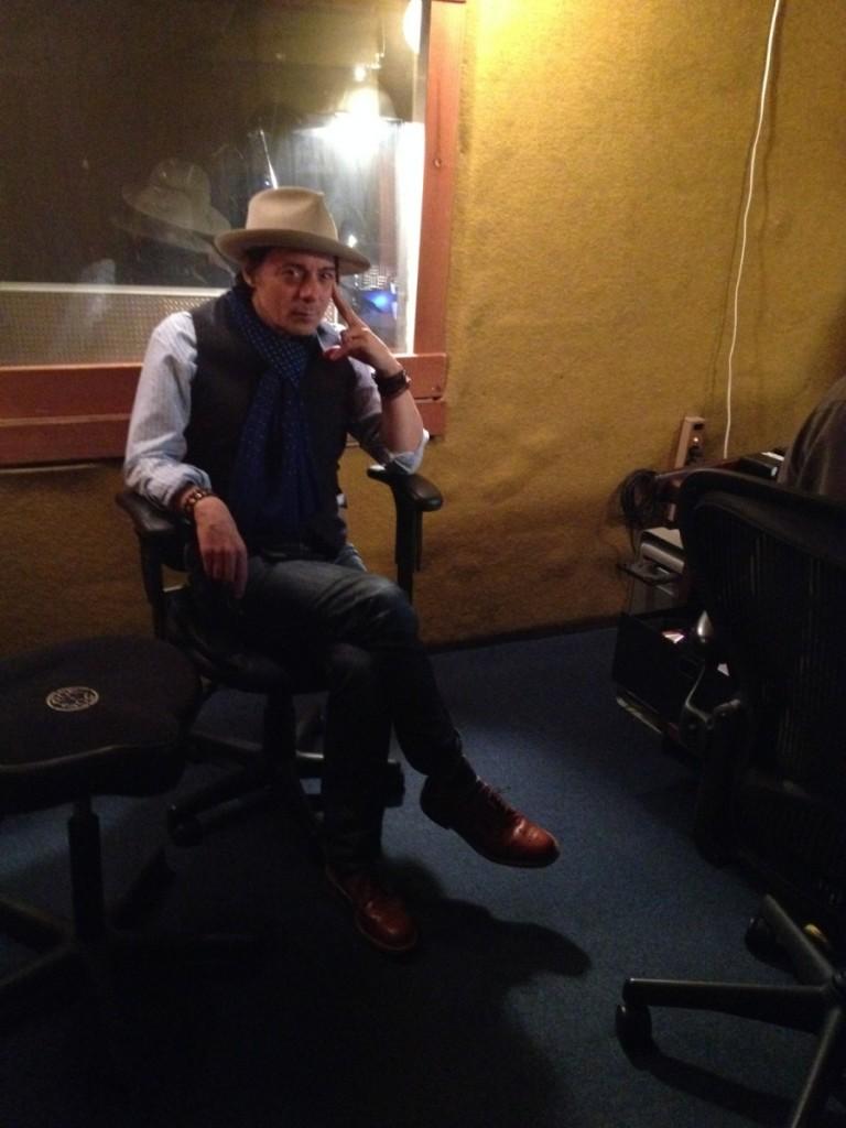 Mick in the studio